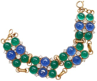 Chanel Baroque Green Glass Bracelets