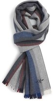 Hickey Freeman Stripe Wool Scarf