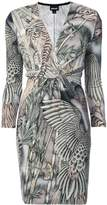 Just Cavalli embroidered wrap dress