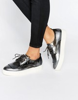 Dune Emmy Fringe Detail Lace Up Sneakers