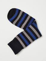 Frank + Oak Striped Cotton Socks in Cobalt