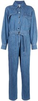 Tibi belted denim jumpsuit