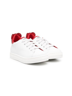 MOSCHINO BAMBINO Teddy Bear patch leather sneaker