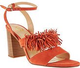 C. Wonder As Is Suede Block Heel Sandal w/Fringe Gabrielle