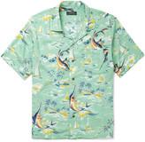 Polo Ralph Lauren Hawaiian-Print Camp-Collar Crepe Shirt