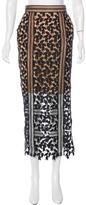 Self-Portrait Lace Midi Skirt