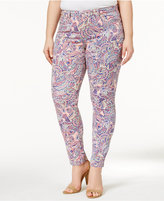 Charter Club Plus Size Bristol Paisley-Print Ankle Jeans, Created for Macy's