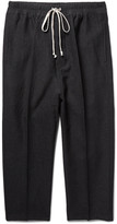 Rick Owens - Astaires Cropped Slim-fit Woven Drawstring Trousers