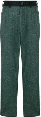 Comme des Garcons herringbone straight leg trousers