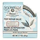 JR Watkins Natural Foot Repair Salve, Peppermint, 2.1 Ounce
