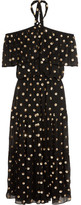 Temperley London Jolie Sequin-embellished Georgette Maxi Dress - Black
