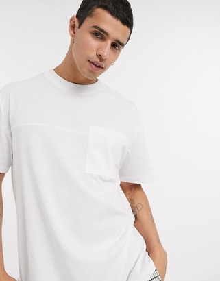 ASOS DESIGN relaxed t-shirt with pocket in white
