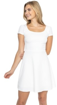 B. Darlin Juniors' Cap-Sleeve A-Line Dress