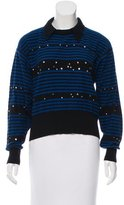 Sonia Rykiel Embellished Striped Sweater