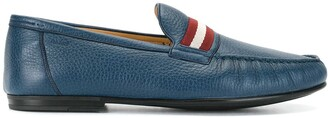 Bally Striped-Panel Loafers