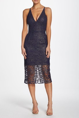 Dress the Population Leilani Plunging V-Neck Lace Dress