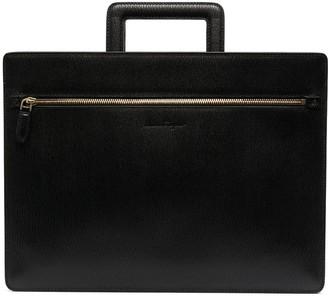 Salvatore Ferragamo Debossed-Logo Rectangle Laptop Bag