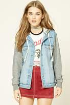Forever 21 FOREVER 21+ Hooded Denim Jacket