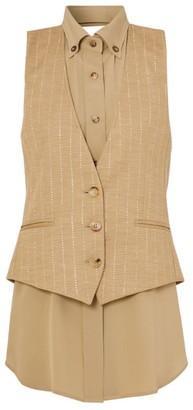 Burberry Pinstripe Wool-Blend Waistcoat