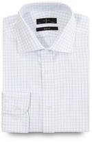 J By Jasper Conran Big And Tall White Grid Checked Slim Fit Shirt
