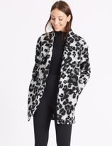 Marks and Spencer Textured Animal Print Jacket