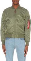 Alpha Industries Contrast-zip bomber jacket