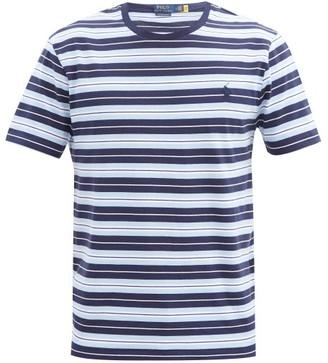 Polo Ralph Lauren Logo-embroidered Striped-cotton T-shirt - Blue Multi