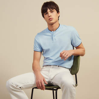Sandro Polo Shirt With Collar Detail