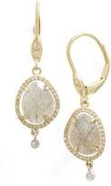 Meira T MeiraT Diamond & Semiprecious Stone Drop Earrings