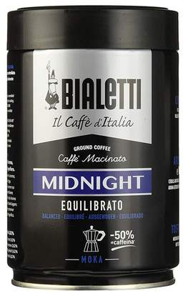 Bialetti Moka Midnight Equilibrato Half-Caffeinated Ground Coffee 250g Tin