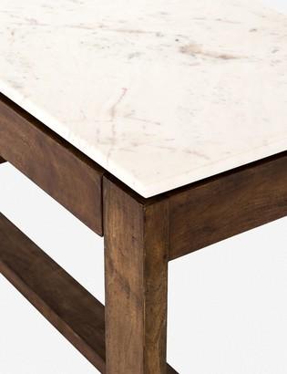 Lulu & Georgia Amare Counter Table, White Marble