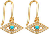Astley Clarke Biography 18ct yellow-gold plated turquoise evil eye drop earrings