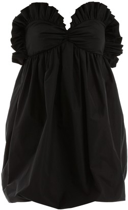 Philosophy di Lorenzo Serafini Ruffled Strapless Dress