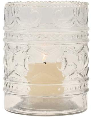 clear Stonebriar Collection Glass Embossed Votive Candle Holder