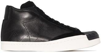 Yohji Yamamoto Suede Panel Lace-Up Sneakers