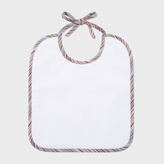 Paul Smith Babies' 'Jugar' Bib With Signature Stripe Trims