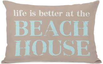 One Bella Casa Better At The Beach Decorative Indoor/Outdoor Pillow