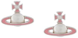 Vivienne Westwood Iris bas relief earrings