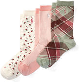 Ralph Lauren Patterned Crew Sock 3-Pack