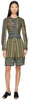 Yigal Azrouel Tribal Embroidered Cotton Romper Women's Jumpsuit & Rompers One Piece