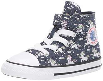 Converse Girls' Chuck Taylor All Star Unicorn Print Velcro High Top Sneaker