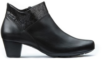 Mephisto Michaela Leather Ankle Boots with Heel
