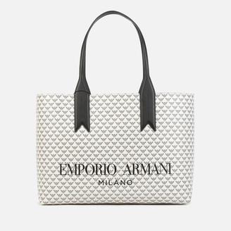 Emporio Armani Women's Frida Shopping Bag - White/Black