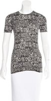 Diane von Furstenberg New Gelassia Tweed Print Top