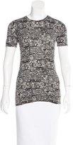 Diane von Furstenberg New Gelassia Tweed Print Top