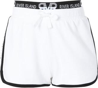 River Island Girls White RI runner shorts