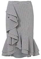 Exclusive for Intermix Slyvia Ruffle Front Gingham Skirt