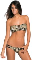 SunShine Day SunShine Light Camouflage Pattern Bandeau Low Rise Bikini Swimsuit