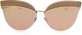 Bottega Veneta BV0101S Metal Cat-Eye Women's Sunglasses