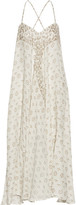 Mes Demoiselles Java Printed Cotton-gauze Maxi Dress - Beige